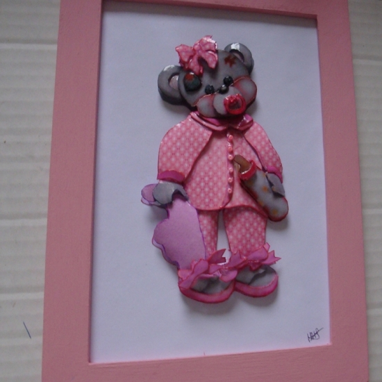 TEDDY PYJAMA  COL ROSE 15 x 21