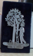 Figurines Peynet en étain les Amoureux sous l'arbre à coeurs